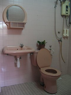 Upstairs shared toilet with heater shower facilities