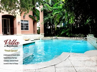 Luxurious Gated Sanctuary w/ 6 Ensuite Bedrooms & Heated Pool in Heart of Tampa