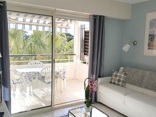 Joli appartement refait a neuf en bord de mer climatise, Wifi, piscine, parking