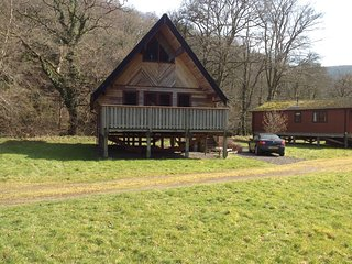Riverside lodge in Dartmoor National Park, Dunsford