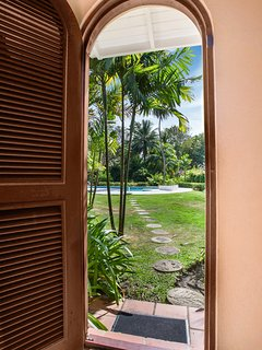 just outside your villa is a beautiful tropical scenery!