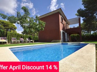Last Minute 15% April 2017. Modern twinhouse with own pool and garden in Cala