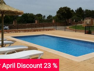 Last Minute 23% April 2017. Country house with pool, 10 minutes from beach and, Algaida