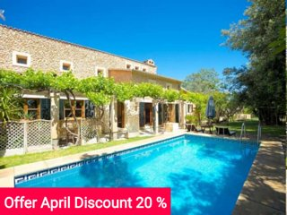 Last Minute 20% April 2017. Beautiful villa in the heart of Mallorca with