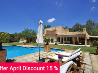 Last Minute 15% April 2017. Enchanting country house with pool and Tennis Court, Bunyola