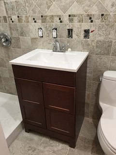 New Bathroom 2017 (showing during construction, now complete)