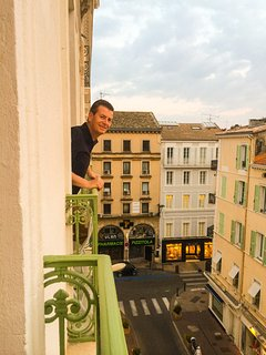 Balcony view to rue d'Antibes