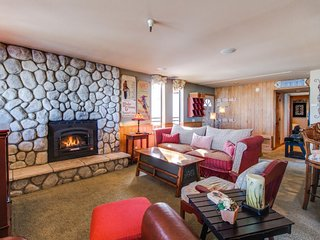Vacation getaway w/ private deck and hot tub, great views, & ski trail access.