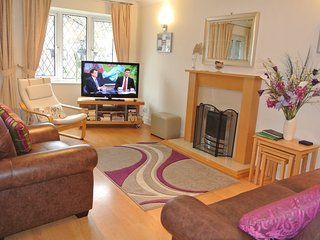Lounge at Cottage One. New leather sofa and chair.