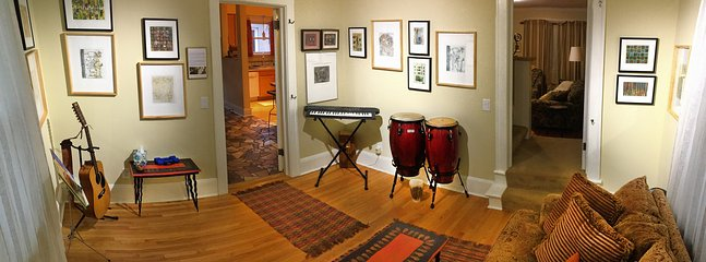 Not a musician? So what—you're invited to fake it in the gallery/music room.