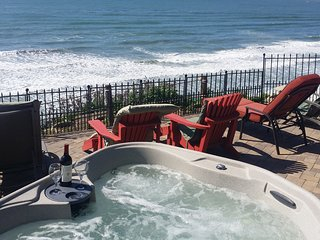Front row seating on the patio or in the hot tub!