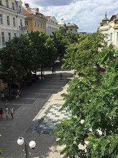 View from the balcony towards Alexandrovska pedestrian street