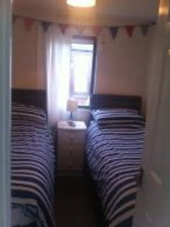 2 single beds, nautical theme