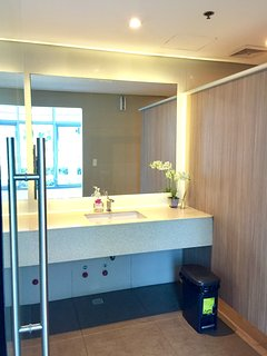 Lavatory area at the shower room