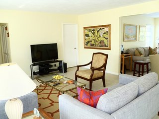 Main living room with cable TV.