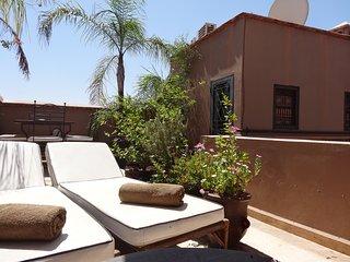 Cosy sunlit terrace room