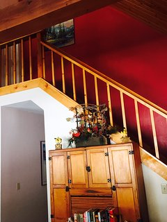 Stairs to Upstairs Bedroom/Bath