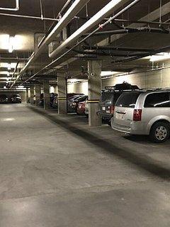 Secured heated underground parking