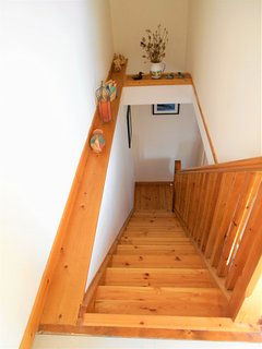 View of Stairs from First Floor Landing.