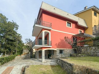 Macera, garden with green view and parking, Rapallo