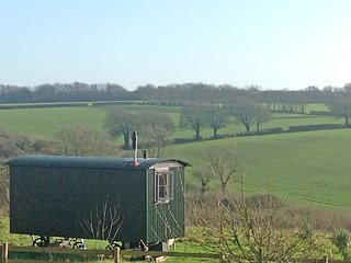 The Forager shepherd's hut, Dorset Forest Garden - stunning views, Beaminster