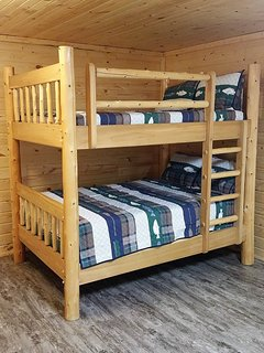 Double full size bunk in the basement