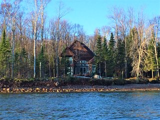 Lake Superior Vacation Home near Pictured Rocks view of AuTrain and Grand Island