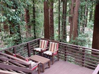 The Hilltop Cabin - Fabulous Views of Redwoods, Boulder Creek