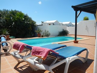 Private walled south facing pool area with sunbathing terrace.