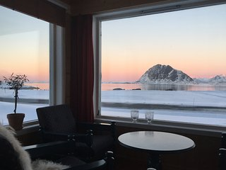 House by the sea in Lofoten, Norway