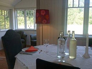 Lantligt boende i Annexet på vår gård mitt på Linderödsåsens topp, bokskog, Linderod