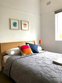 bright, light double bedroom
