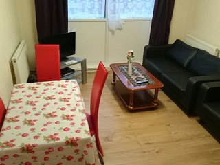 4 bed flat, 18 mins to Central London free wifi & TV, free parking, sleeps 8