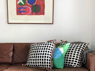 relax...the lounge with original artwork