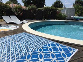 maison 6/8 personnes avec piscine chauffee