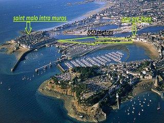 DUPLEX SAINT MALO VUE MER ET INTRA MUROS, Saint-Malo