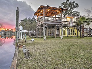 NEW! Bay St Louis House on River w/Large Deck!