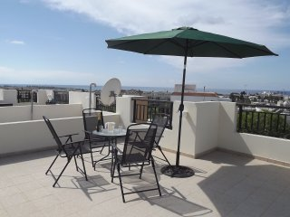 2 Bedroom penthouse apartment with shared pool and designated roof terrace.