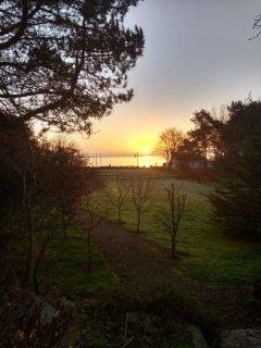 Winter sunrise over the entrance to Strangford Lough.