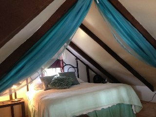 One of the loft bedrooms in our 3-bedroom cottage