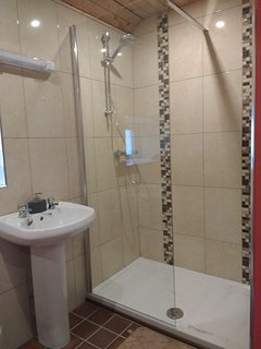 Central heating and new toilet, wash hand basin and shower.