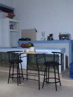 Well equipped kitchenette with breakfast table for two