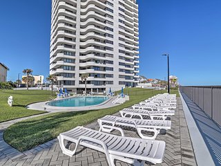 NEW! Oceanview 2BR Daytona Beach Condo w/ Deck!