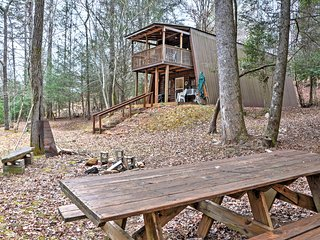 NEW! 'Adams Family' 3BR Cleveland Cabin on Creek!