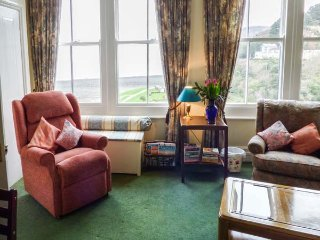 FLAT 3, first floor apartment, pet-friendly, sea and village views, in