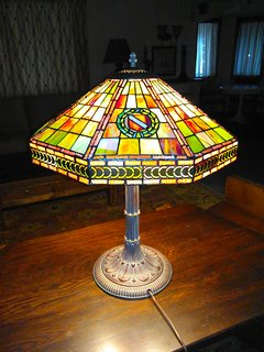 Antique Tiffany Lamp in The King's Suite.