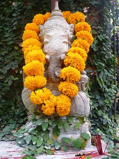 ganesha statue at the entrance