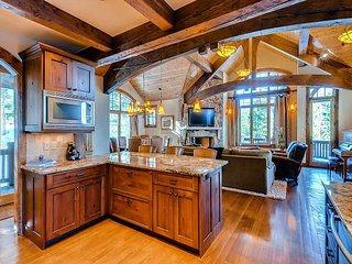 Short Walk to 4 O'clock Run in this Charming & Rustic Peak 8 Luxury Home