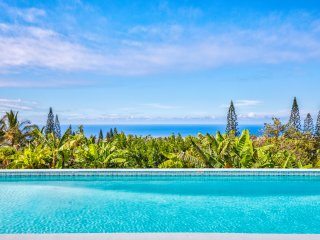 NEW - Luxury 4 bed home, ocean views, pool, huge lanai on private 1 acre garden