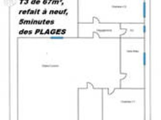 APPARTEMENT AVEC 2 CHAMBRES LUMINEUX REFAIT A NEUF A 5 M DE LA PLAGE